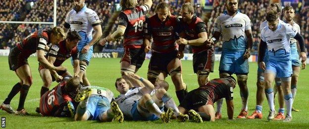 John Hardie scores for Edinburgh