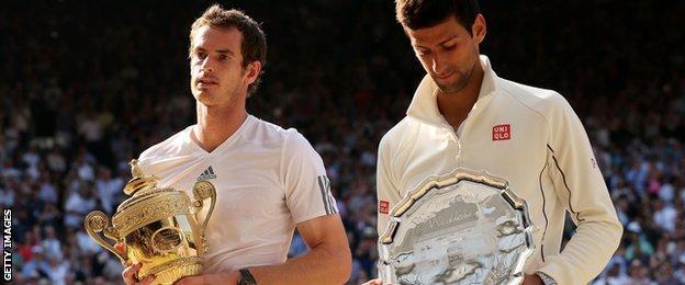 Murray beat Djokovic to win the 2013 Wimbledon final
