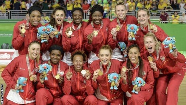 England win netball gold at the 2018 Commonwealth Games