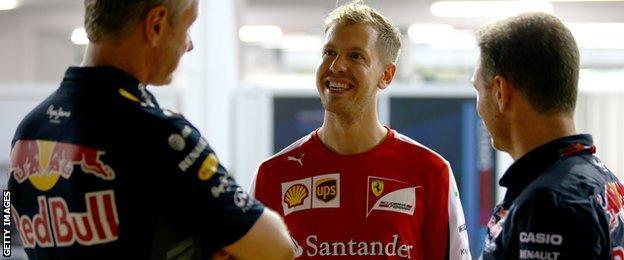 Former Red Bull driver Sebastian Vettel