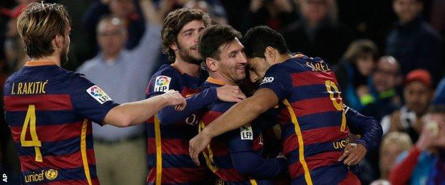 Barcelona's win was their first in three La Liga games
