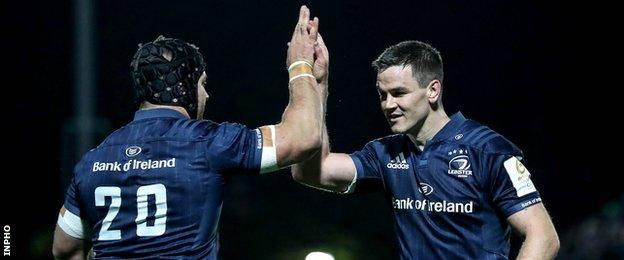 Leinster's Sean O'Brien and Johnny Sexton