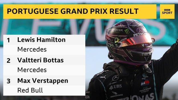 Lewis Hamilton breaks Michael Schumacher's win record at the Portuguese Grand Prix