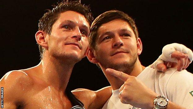 Gavin McDonnell (left) captured a European title in 2015, some five years after Jamie (right)