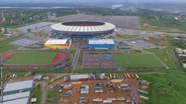 Japoma Stadium and training complex in Douala