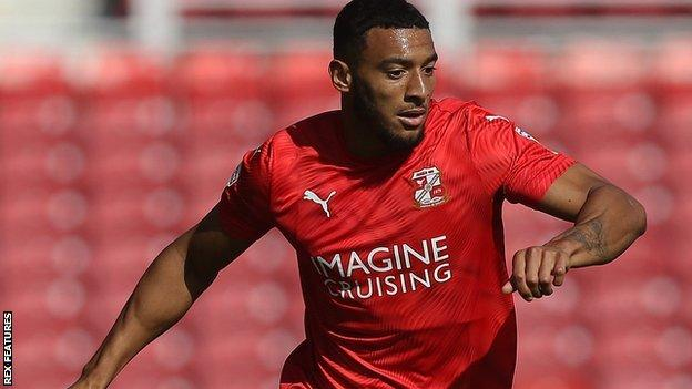 Keshi Anderson's hat-trick doubled his season's haul for Swindon Town