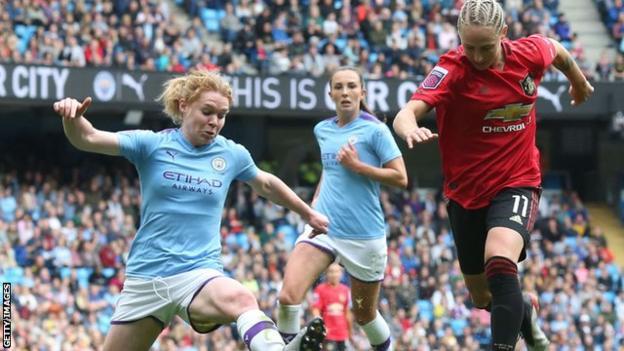 Leah Galton against Manchester City