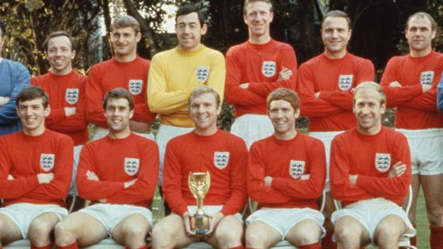 The victorious England team at the 1966 World Cup