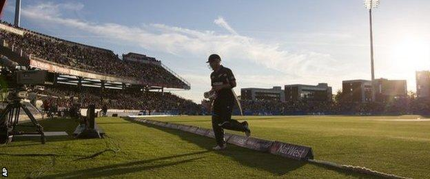 Brendon McCullum's 35 for New Zealand against England at Old Trafford in the T20 international came off just 15 balls
