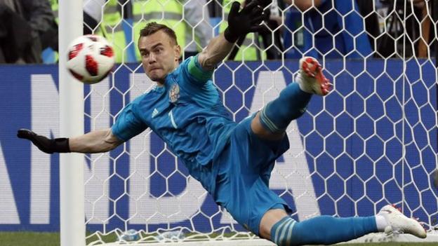 Russia goalkeeper Igor Akinfeev