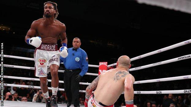 WBO middleweight champion Demetrius Andrade