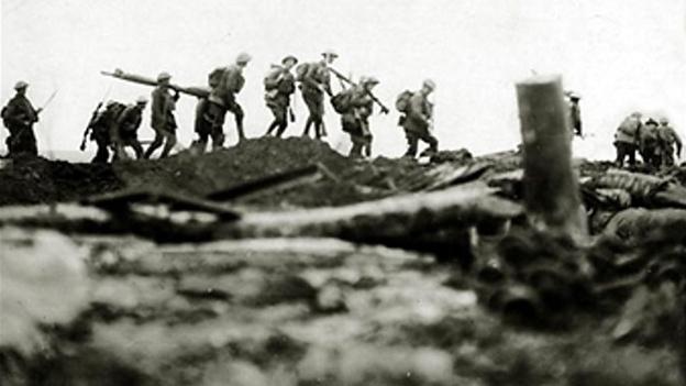Irish soldiers fighting in World War One