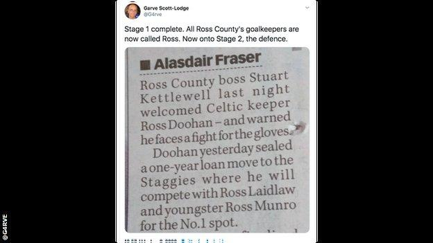 Tweet about Ross County