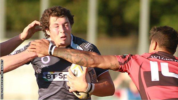 Ross Jones in action for Ospreys