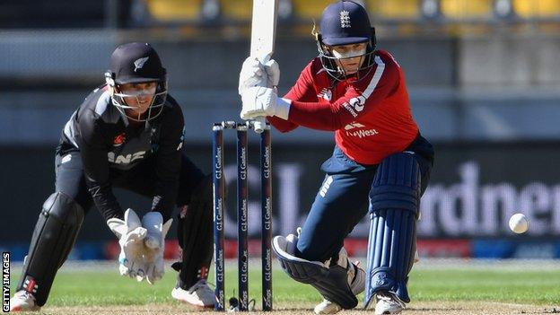 Tammy Beaumont of England against New Zealand