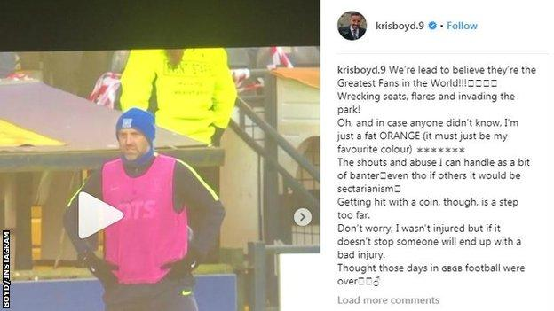 Kris Boyd's Instagram post