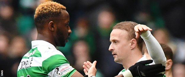 Moussa Dembele and Leigh Griffiths