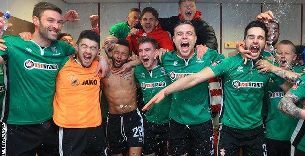 Lincoln City celebrate