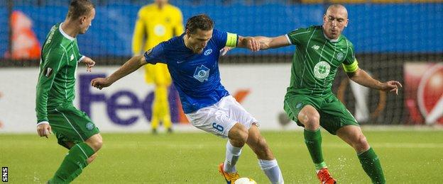 Molde and Celtic players