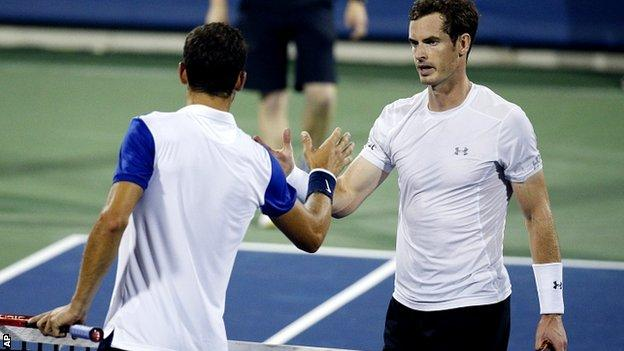 Grigor Dimitrov and Andy Murray
