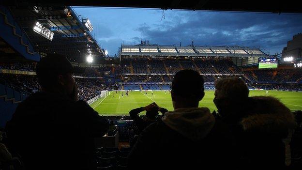 Aficionados del Chelsea en Stamford Bridge