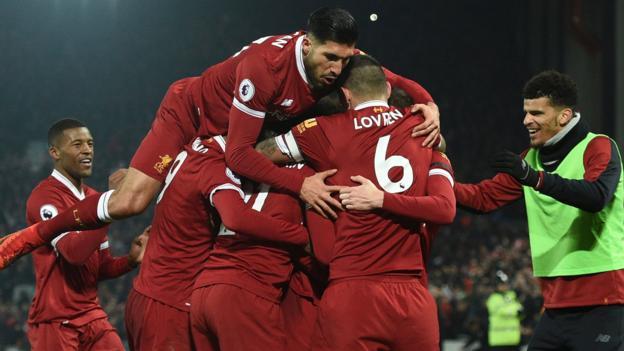 Liverpool 4 3 Manchester City Bbc Sport