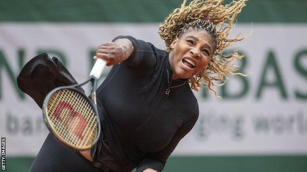 sports Serena Williams after serving