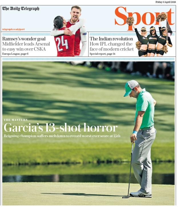 The Telegraph sport section on Friday