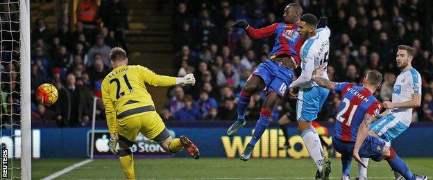 Crystal Palace winger Yannick Bolasie