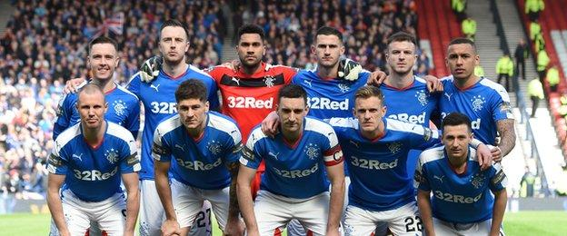 Rangers' team that started against Celtic on Sunday