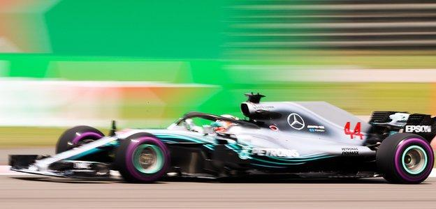 Lewis Hamilton during the Chinese Grand Prix