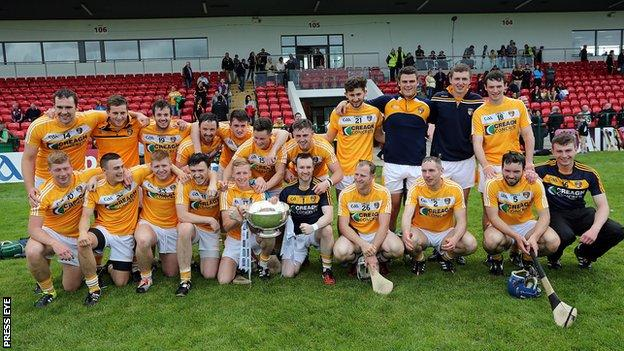 Antrim defeated Down in the 2015 Ulster SHC final