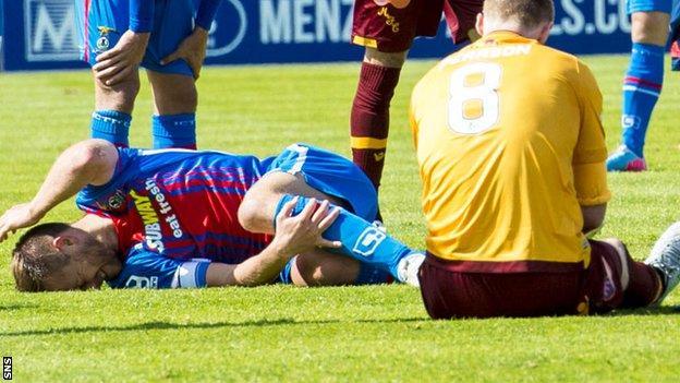 Gary Warren and Stephen Pearson are injured at Caledonian Stadium