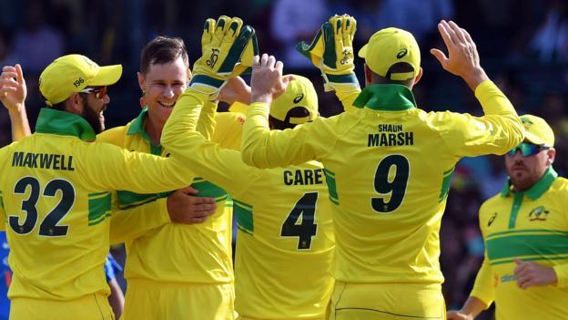 Australia v India: Rohit Sharma century in vain as Australia win opening ODI thumbnail