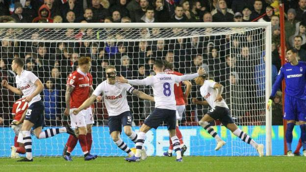 Nottingham Forest 0-1 Preston North End: Lewis Moult goal ...