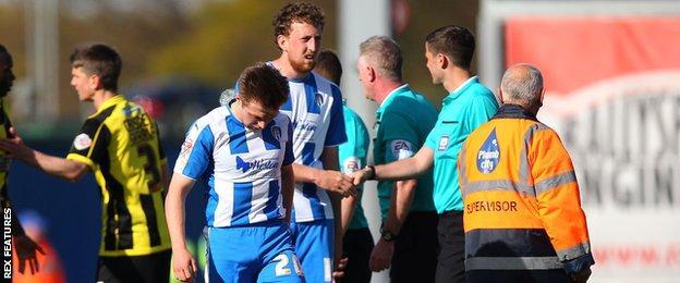 Colchester relegated