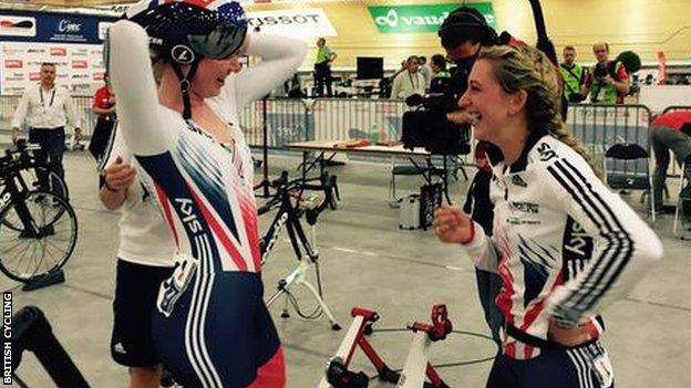 Katie Archibald and Laura Trott