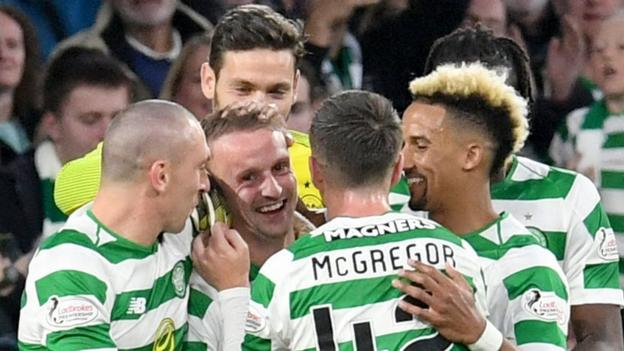 Celtic 3-1 Suduva: Brendan Rodgers' side into Europa League group stage thumbnail