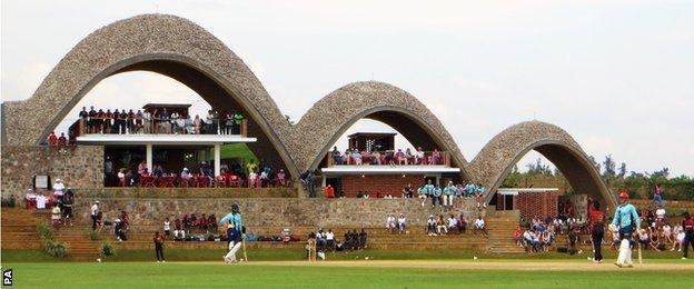The new international cricket stadium in Kigali, Rwanda