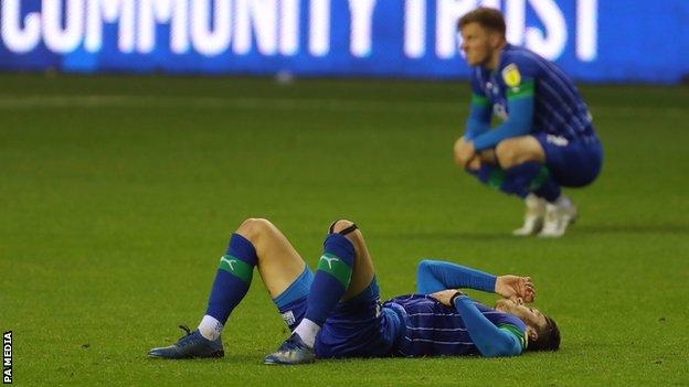 Wigan Athletic players emotional after relegation