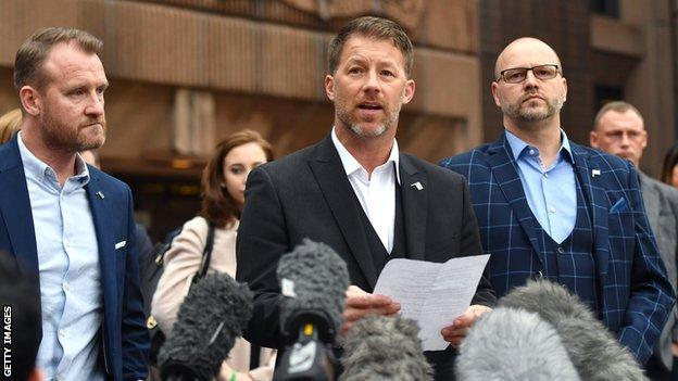 Director of the Offside Trust Steve Walters spoke outside court following the sentencing of Barry Bennell