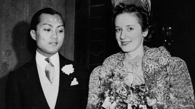 Prince Bira marries Ceril Haycock