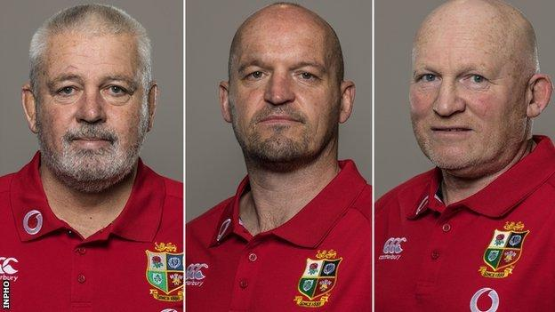 Warren Gatland, Gregor Townsend and Neil Jenkins