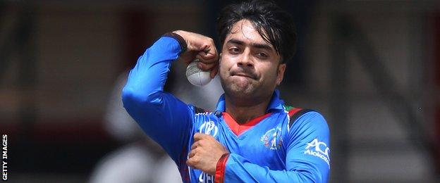 Rashid Khan is ranked at the world's top T20 bowler