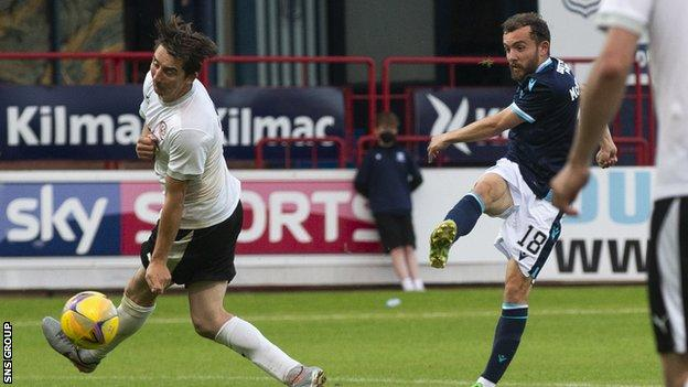 Paul McMullan was on target for Dundee at Dens Park