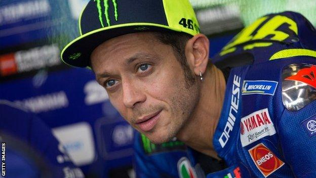 Nine-time world champion Valentino Rossi