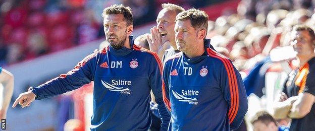 Derek McInnes and assistant Tony Docherty