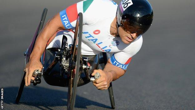 Italy's Alex Zanardi, a former Formula 1 driver