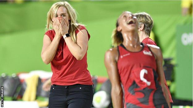 Tracey neville and Serena Guthrie