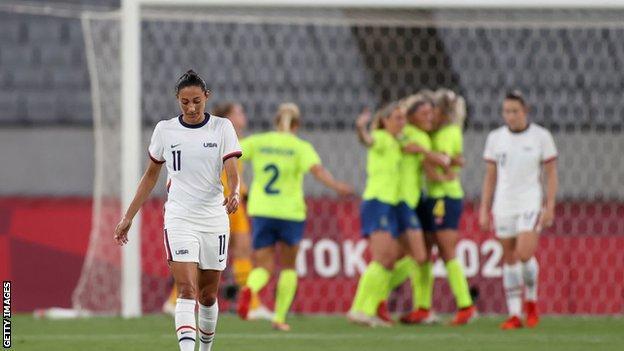 USA react to Sweden scoring